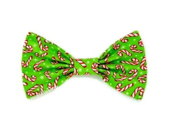 Christmas Candy Bow Candy Canes Green Hair Bow Snowflake Holiday Hair Accessories Cute Christmas Bow