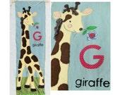 Baby Giraffe Applique Nursery Hanging downloadable pdf pattern