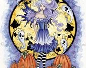 HALLOWEEN fairy 8.5x11 PRINT by Amy Brown