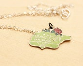 State Charm Necklace - Tennessee