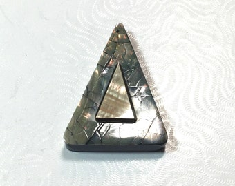 Triangle Abalone Pendant