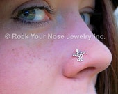 Hummingbird Nose Stud / Bird Nose Ring / Animal Nose Stud / Unique Nose Rings / Rock Your Nose - CUSTOMIZE