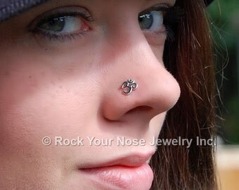 Ohm Nose Stud / Ohm Nose Ring / Yoga Nose Jewelry / Meditation Nose Ring / Unique Nose Jewelry / Rock Your Nose - CUSTOMIZE