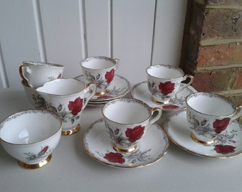 Tea Set - A Rose to Remember - Royal Stafford Bone China