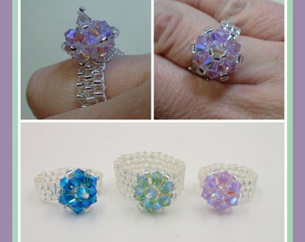 Razzle Dazzle Ring PDF Jewelry Making Tutorial (INSTANT DOWNLOAD)