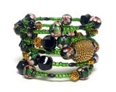 DISCOVERY IN the WOODS coil Beaded Bracelet by Beading Divas Fundraiser