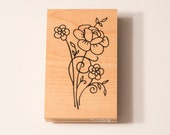 Great Impressions Flower Bouquet J110 rubber stamp