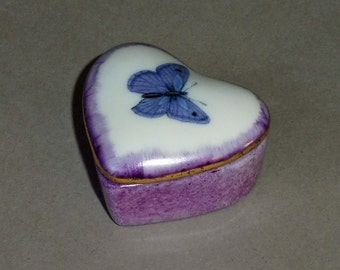 Heart Shaped Butterfly Tooth Fairy Box