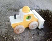 Wooden Toy Dozer - a construction vehicle wood car bulldozer toy