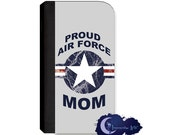 Proud Air Force Mom Wallet Case for Samsung Galaxy Note Models