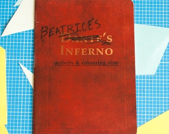 Beatrice's Inferno activity and colouring zine