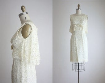 1960s lace bow dress