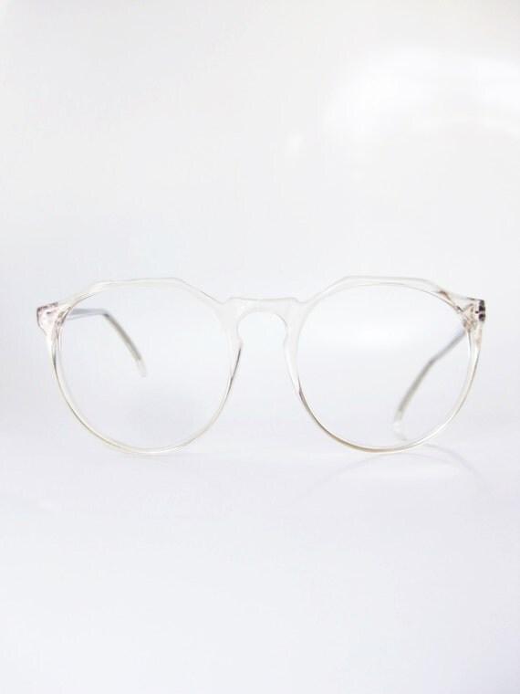 Lafont Round Eyeglass Frames : Clear Eyeglasses Vintage Jean Lafont Transparent Round P3