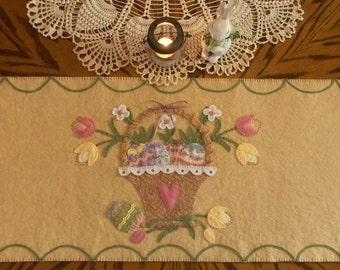 Easter Blessings Wool Table Runner DIGITAL PATTERN