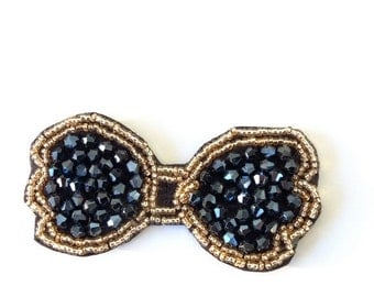 Beads Bow Applique Iron on/sew
