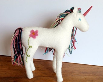 Stuffed Felt Handmade Unicorn