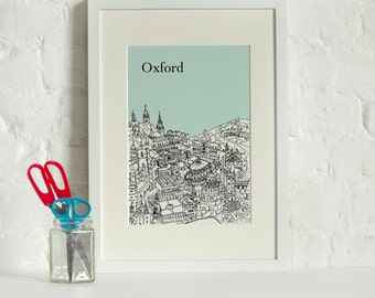 Personalised Oxford Print | First Wedding Anniversary Gift | Engagement Gift | Oxford Picture | Oxford Gift | Unique Wedding Gift | Wall Art