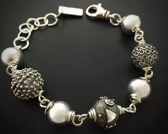Sterling Silver Bracelet Handmade Wild Prairie Silver Jewelry Joy Kruse