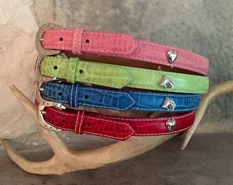 Children's Leather Belt / Equestrian