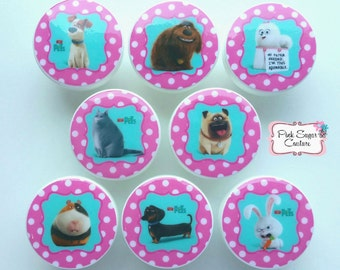 SECRET LIFE of PETS Knobs drawer pulls Kids Nursery Room decor