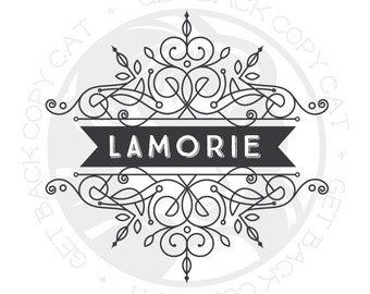 Premade Ornate Fancy Logo Design OOAK (Buy and Customize This Exact Design) NEVER Sold Twice!