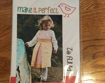 Make It Perfect Pinny #2 Pattern Girls Sizes 6-12 months-5