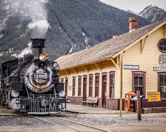 Durango Silverton Train - Steam Engine - Narrow Gauge Train - Railroad - Historic Train - Train Terminal - Fine Art Photography