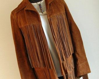 Vintage Suede Leather Long Fringe Jacket by Lariat