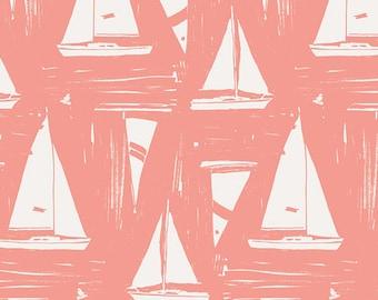 Coastline Sailcloth Sunset Art Gallery Fabric, Choose your cut
