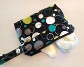 Mom Clutch | Diaper Clutch | Diaper Holder | Zippered Diaper Clutch: Hoopla Dot Lagoon
