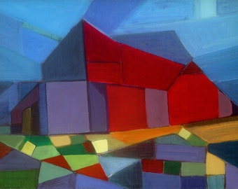 Hudson Valley Red Farmhouse Art Print by Will Wieber