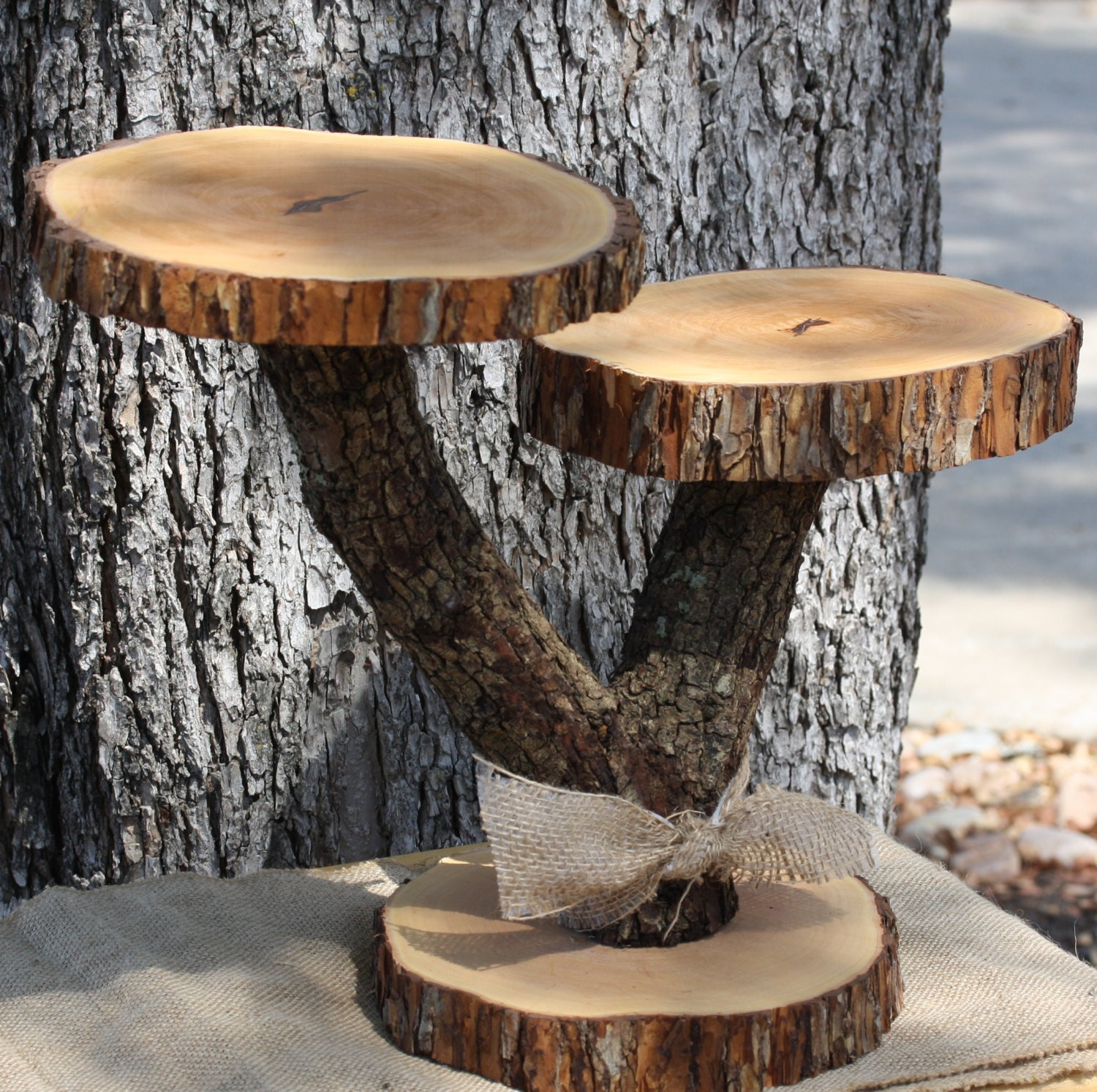 tree branch wedding cake stand rustic cake cupcake stand 2 tier serving platter dessert or 21252