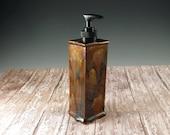 Ceramic Soap Dispenser - Dish Soap Dispenser - Shades of Brown Liquid Soap Dispenser - Hand Soap - 919