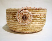Sparkling Gold Coiled Fabric Bowl