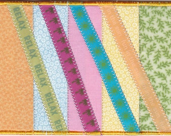 Relax Quilted Fabric Postcard