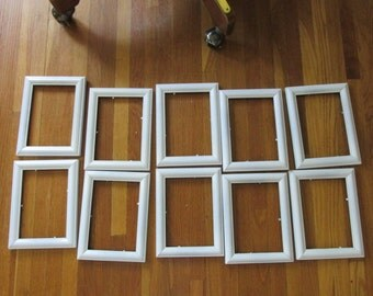 Picture Frames Set of 10 with Glass and Backing 5 x 7 Wedding Table Numbers
