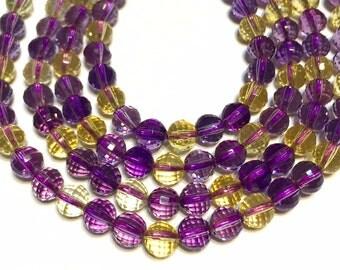 Ametrine AAAA quality checker machine facted 6mm beads half strand
