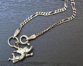 Vintage Italian Sterling Angel/Cherub Bracelet