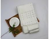 Gray Dots Tablecloth- Free Shipping to USA