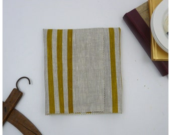Mustard Stripes -Fabric by the yard - Free Shipping to USA