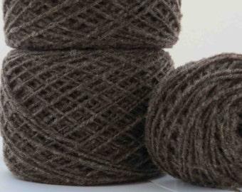 Handspun Babydoll Southdown Yarn - Natural Brown - 2 ply