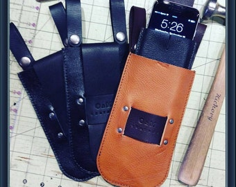 Leather sun/eye glasses case/phone case