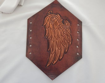 Leather Bracer Wings2 design Over stock Sale/FREE U.S. SHIPPING