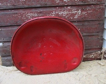 Vintage Antique Red Tractor Seat Primitive Rustic Buggy Implement Seat