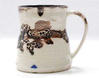 16 oz Mug Ceramic Mug White and Black