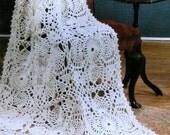 INSTANT DOWNLOAD PDF Vintage Crochet Pattern  Lace Pattern Afghan Throw Blanket Shawl