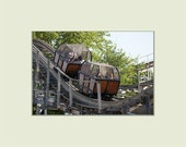Lost Coaster of Superstition Mountain Wooden Roller Coaster at Indiana Beach Amusement Park 5x7 print with 8x10 mat