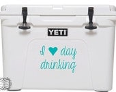 I heart Day Drinking Vinyl Decal