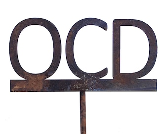 OCD Metal Garden Art Sculpture-FREE SHIPPING-
