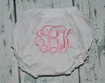 Personalized BLOOMERS Baby Diaper Cover with Monogram